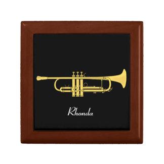 Tema de la música de la trompeta de oro caja de recuerdo