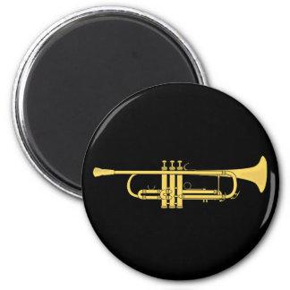Tema de la música de la trompeta de oro imán redondo 5 cm