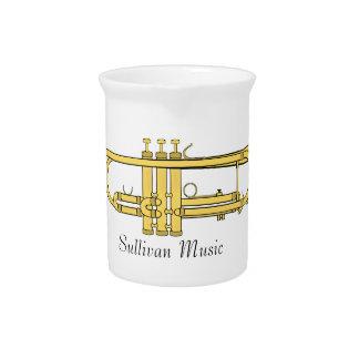 Tema de la música de la trompeta de oro jarra de beber