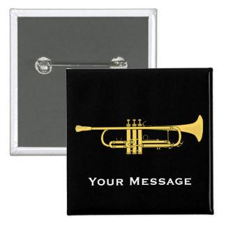 Tema de la música de la trompeta de oro pin