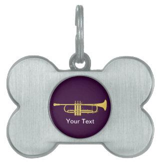 Tema de la música de la trompeta de oro placas de mascota
