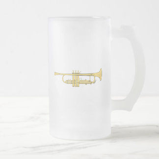 Tema de la música de la trompeta de oro taza de cristal