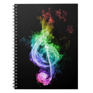 tema de la música spiral notebook