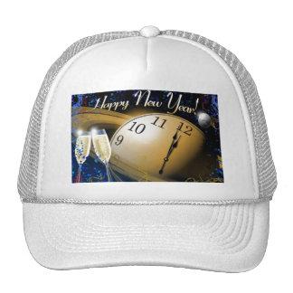 Tema de la NASA de la Feliz Año Nuevo Gorra
