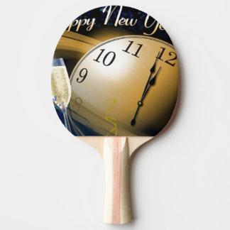 Tema de la NASA de la Feliz Año Nuevo Pala De Tenis De Mesa
