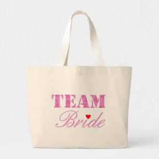 Tema de la novia del equipo bolsas