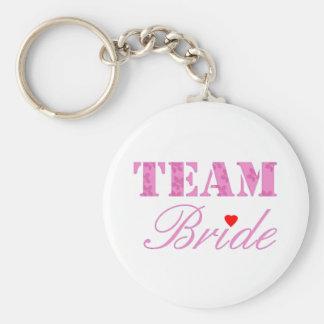 Tema de la novia del equipo llavero personalizado
