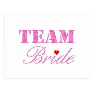 Tema de la novia del equipo postales