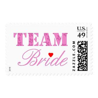 Tema de la novia del equipo timbre postal