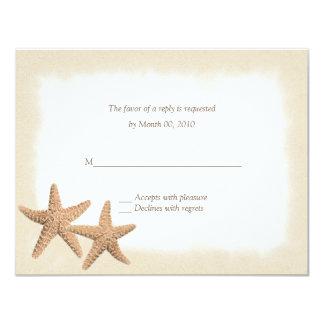 """Tema de la playa de las estrellas de mar que casa invitación 4.25"""" x 5.5"""""""