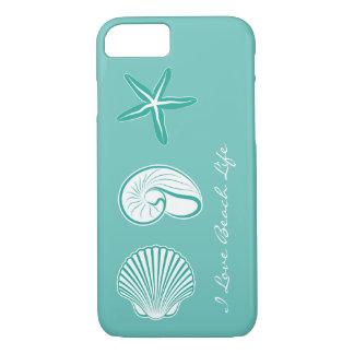 Tema de la playa del verano funda iPhone 7