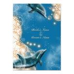 Tema de la playa - fiesta elegante del delfín del invitación personalizada