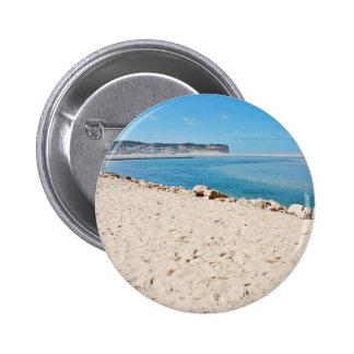 Tema de la playa pin redondo 5 cm