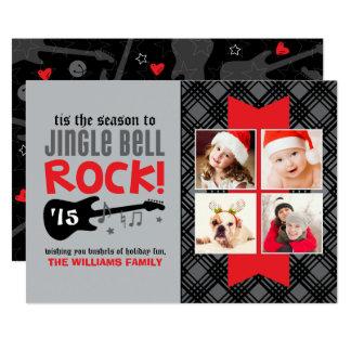 "Tema de la roca de la tarjeta el | Jingle Bell de Invitación 5"" X 7"""