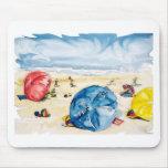 Tema de los parasoles de playa de Mousepad Alfombrillas De Raton