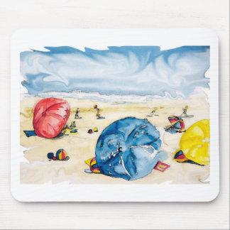 Tema de los parasoles de playa de Mousepad