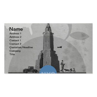Tema de New York City Tarjetas De Visita