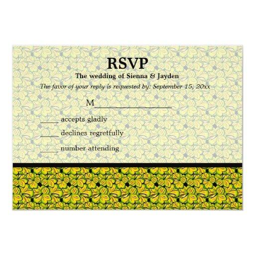 """Tema de RSVP del hibisco Invitación 5"""" X 7"""""""