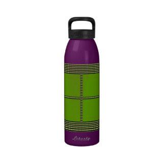 Tema de seda del cuadrado del satén - plataformas botella de beber