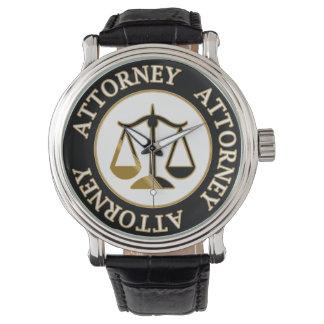 Tema del abogado relojes de mano
