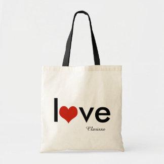 tema del amor personalizado bolsa tela barata