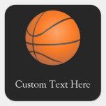 Tema del baloncesto pegatinas cuadradases