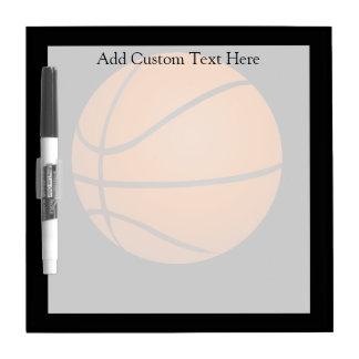 Tema del baloncesto pizarra