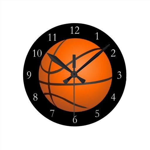 Tema del baloncesto reloj redondo mediano