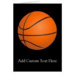 Tema del baloncesto tarjeta