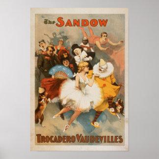 Tema del carnaval de los vodeviles de Sandow Troca Póster
