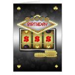 Tema del casino de la tarjeta de felicitación del