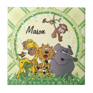 Tema del cuarto de niños de los animales del bebé tejas  cerámicas