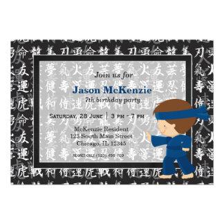 Tema del cumpleaños de Ninja Comunicado Personalizado
