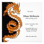 Tema del cumpleaños del dragón de Yin Yang Invitación Personalizada