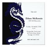 """Tema del cumpleaños del dragón de Ying Yang Invitación 5.25"""" X 5.25"""""""