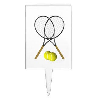 Tema del deporte del tenis de los dobles decoración de tarta