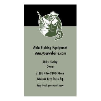 Tema del equipo de pesca tarjetas de visita
