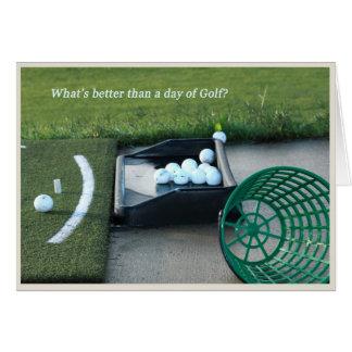 Tema del golf de la tarjeta del retiro