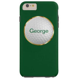 Tema del golf de los hombres funda para iPhone 6 plus tough