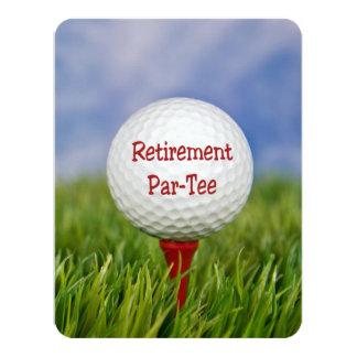 """Tema del golf del fiesta de retiro invitación 4.25"""" x 5.5"""""""