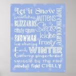 Tema del invierno poster