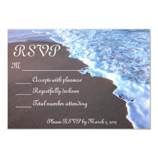 """Tema del océano y de la playa invitación 3.5"""" x 5"""""""
