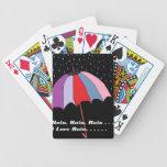 Tema del paraguas baraja de cartas