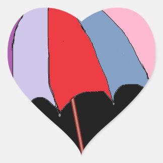 Tema del paraguas calcomania de corazon personalizadas