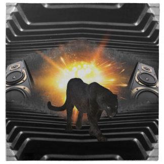 Tema del vídeo musical de la pantera negra servilleta de papel
