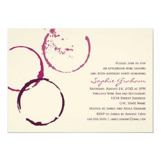 Tema del vino de la invitación el | del cumpleaños