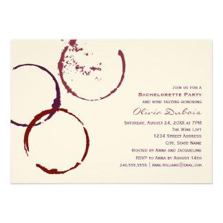 Tema del vino rojo del fiesta el | de Bachelorette Anuncio Personalizado