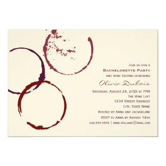 Tema del vino rojo del fiesta el   de Bachelorette Anuncio Personalizado