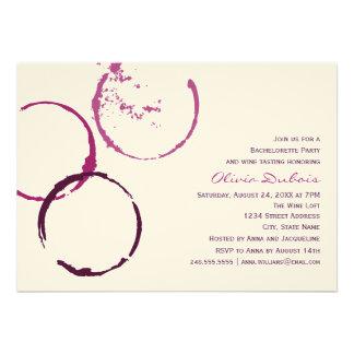 Tema del vino rojo del fiesta el | de Bachelorette Invitaciones Personalizada