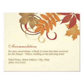 """Tema descendente de las hojas de la tarjeta de invitación 4.25"""" x 5.5"""""""